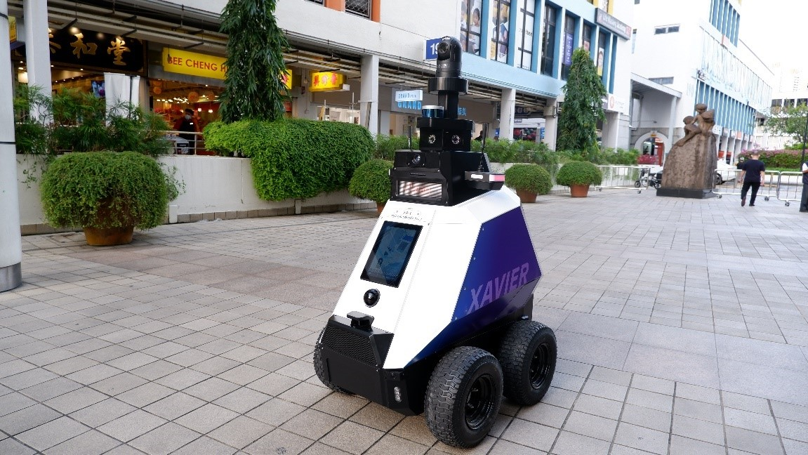 What do these patrol robots do?